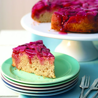 Upside-down Rhubarb Cake