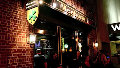 Photo: Meehan's Downtown Atlanta GA. Carved Irish Pub Blade Sign and Gold Awning 3D Letters by http://www.nicecarvings.com/