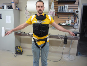 Photo: Upper harness with shoulder restraints and the custom hip belt.
