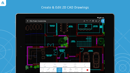 Autocad dwg viewer editor android apps on google play for Online cad editor
