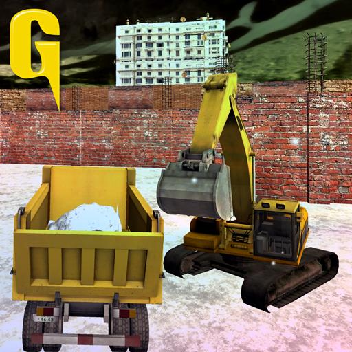 模拟のショベル雪ローダー トラックの 3D LOGO-記事Game
