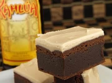 Kahlua Brownies w/ Brown Butter Kahlua Icing