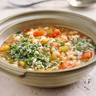 Wheat Berry Soup with White Beans and Rosemary