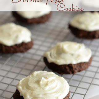 Brownie Mix Cookies with Cream Cheese Frosting