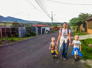 Photo: Our first walk to the local market.