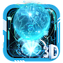 3D Blue Neon Earth Theme file APK Free for PC, smart TV Download