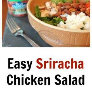 Easy Sriracha Chicken Salad (Gluten Free).
