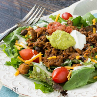 Southwest Salad With Chipotle Black Bean Crumbles.