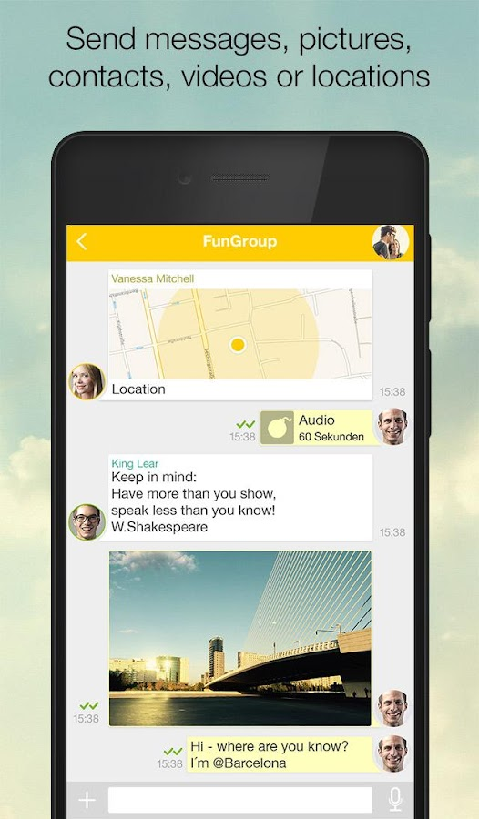 SIMSme – Your secure messenger - screenshot