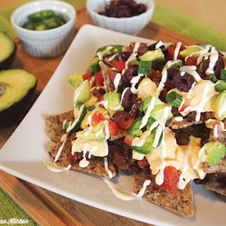 Totally Loaded Vegan Chili Cheese Nachos