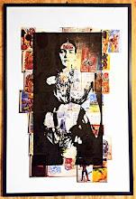 Foto: Frida, Diego in mind  48x71cm  Serigrafia su stampe di pagine di diario di Frida Kahlo  DISPONIBILE  Per informazioni e prezzi: manualedelrisveglio@gmail.com