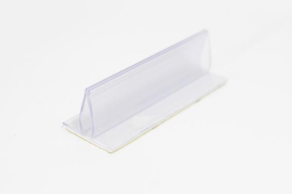 pinza plástica sujeta gráficas de 2,5 x 2 cm con adhesivo espumoso