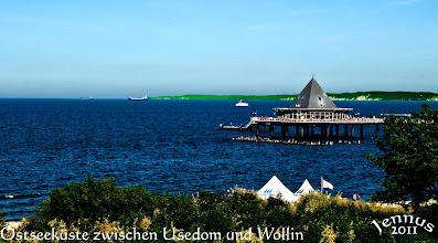 Photo: Ostseeküste Heringsdorf mit Blick ins das Nachbarland Polen