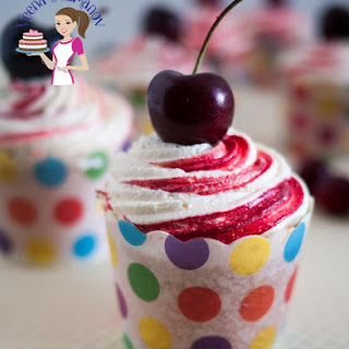 Pink Cherry Cupcakes with Whipped Cream Butter Recipe