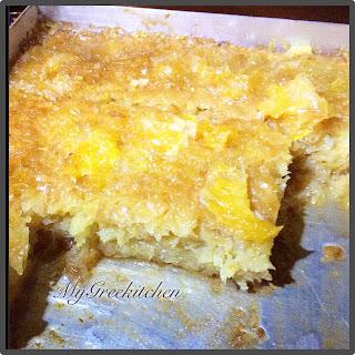 Greek Portokalopita. Orange Pie.