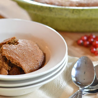 Apple and Red Currant Cobbler with Gingerbread Topping