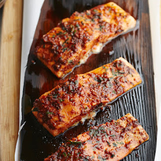Cedar-Plank Grilled Salmon with Aleppo Pepper and Lime Zest