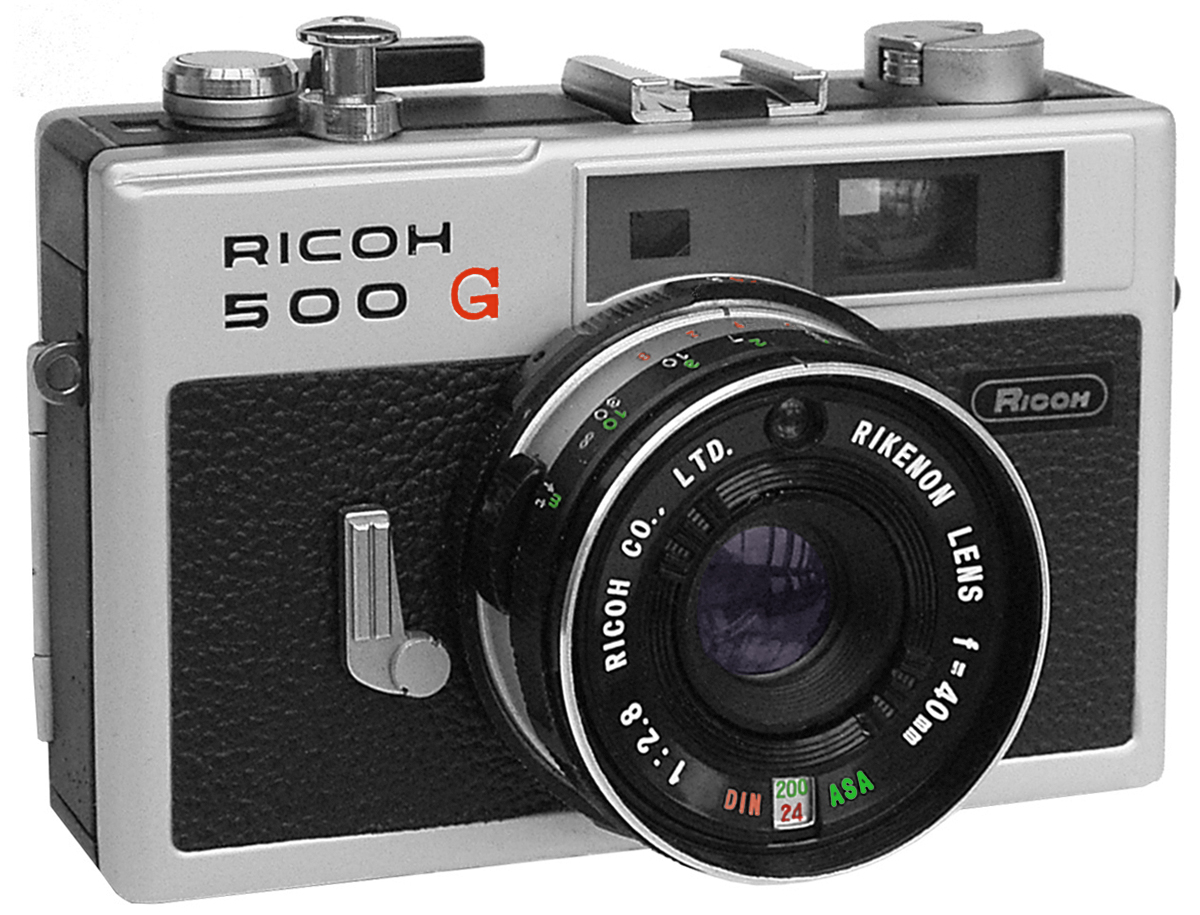 A photo of the Ricoh 500G film camera