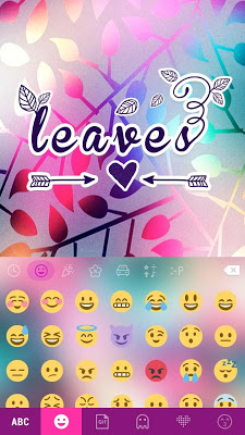 Leaves Themefor Emoji Keyboard - screenshot