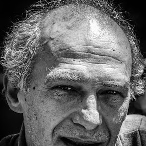The Wise Man by Ravi Patel - People Portraits of Men ( old, black and white, age, old man, portrait )
