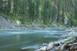 Photo: Scenic image of Salmon River, Idaho.