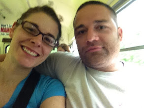 Photo: heading to the cave on the bus