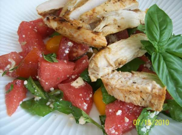 Spicy Sriracha-grilled Chicken And Watermelon Salad Recipe
