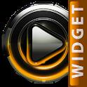 Poweramp widget Orange Glow icon