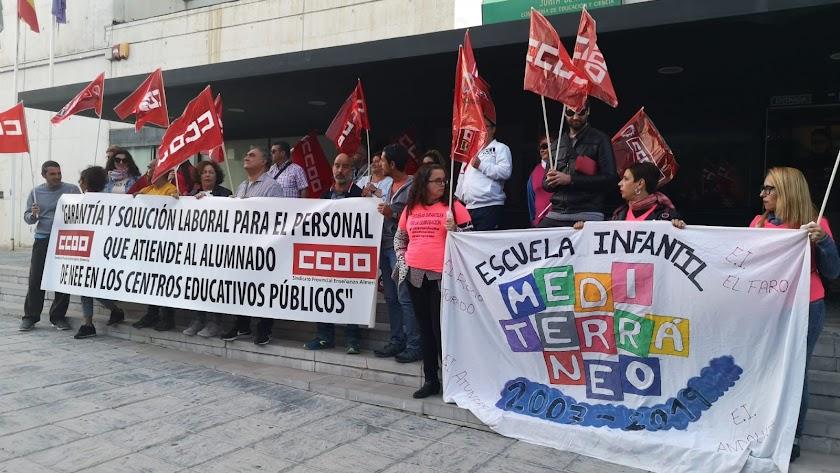 Manifestaicón del pasado 28 de octubre en Almería capital.,