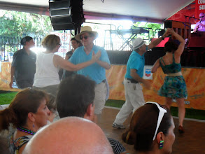 Photo: The Cornet Chop Suey tent has a dance floor. People dance on the grass in the Red Beans and Ricely Yours tent.