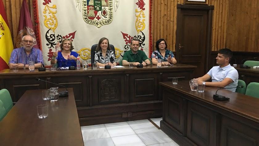 Foto de archivo de un pleno en el Ayuntamiento huercalense.