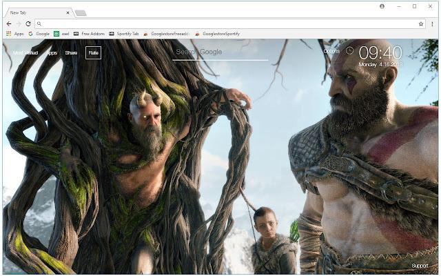 3d Digital Clock Wallpaper 2018 God Of War 4 Hd Wallpapers New Tab Free Addons