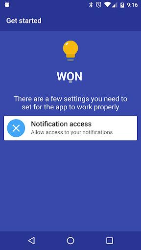 WON - Wake On Notification