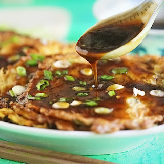 Beef Egg Foo Young with Thick Gravy.
