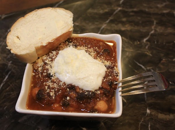 Three Bean Turkey (or Beef) Chili In Slow Cooker Recipe