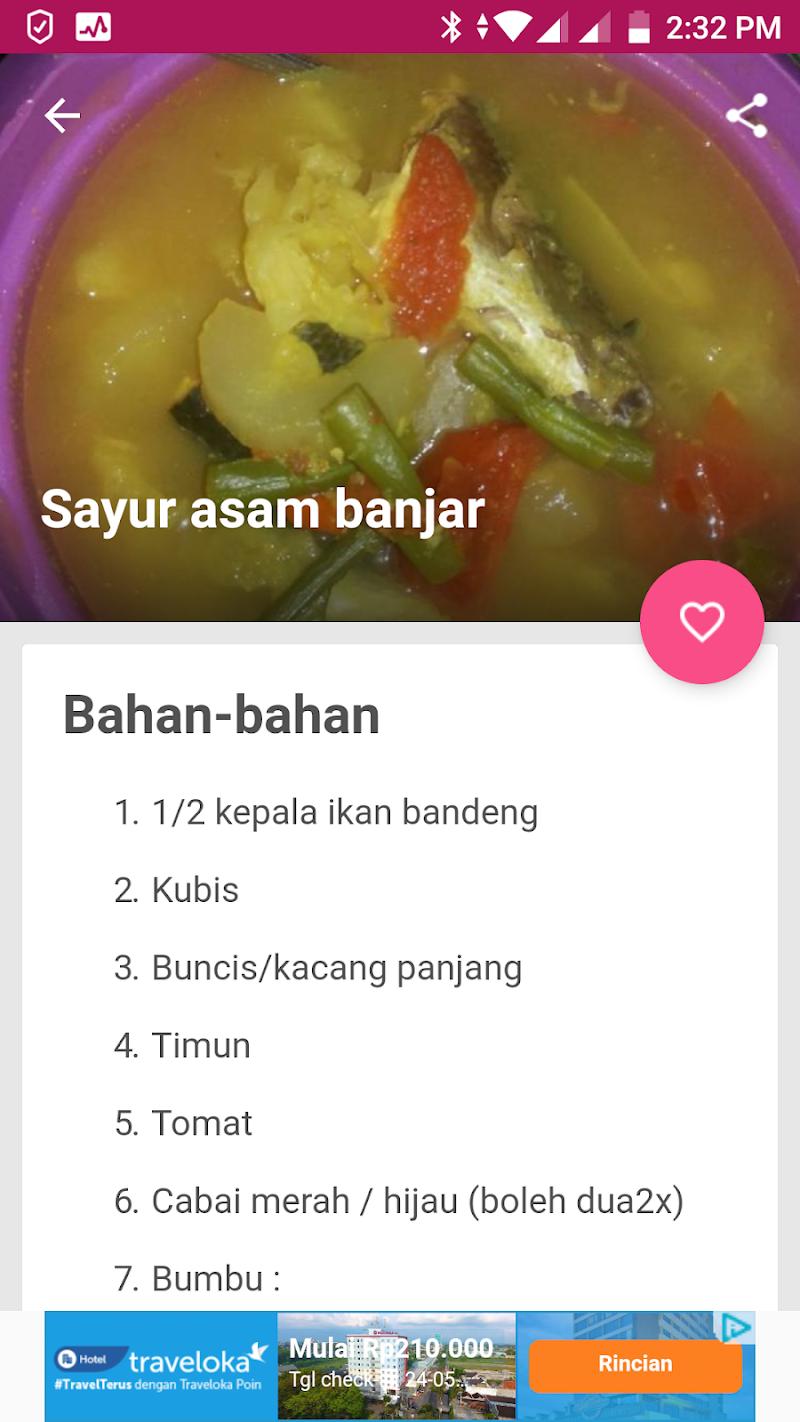 Скриншот Resep Sayur Asem Praktis