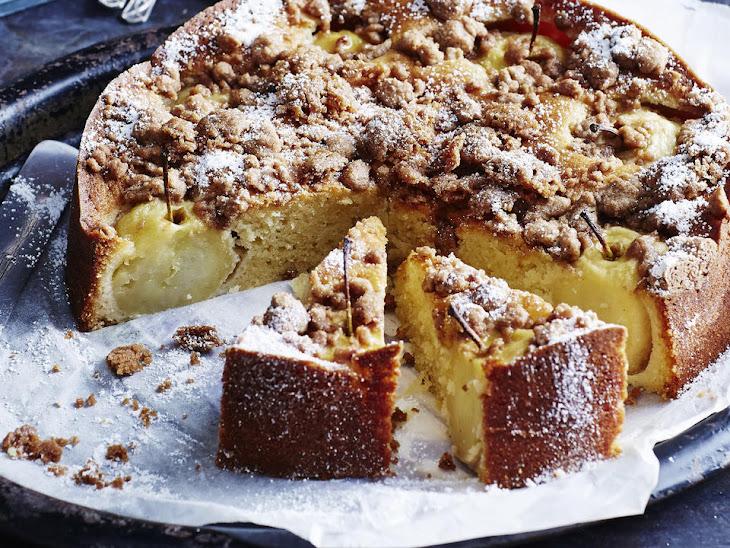 Apple Cinnamon Cake with Cinnamon Anglaise