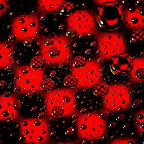 Checkers !!! by Nick Beaudoin - Abstract Water Drops & Splashes ( water, red, d700, drops, waterdrops, nikon, black )