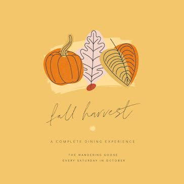 Fall Harvest Dining - Instagram Post Template