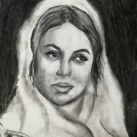 Romanian peasant by Livia Copaceanu - Drawing All Drawing ( peasant, traditional, art, drawing, portrait, romanian, costume )