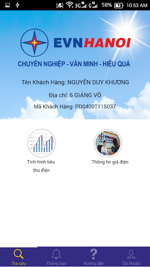 EVNHanoi CSKH- screenshot