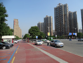 Photo: 曲江一中校門外街景