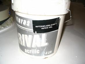 Photo: Voy a utilizar este tipo de pintura. Es impermeabilizante y preparada para su uso en exteriores.