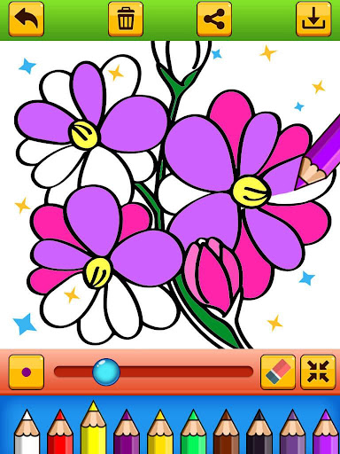 Flowers Coloring Book - Images Painting for kids hack tool