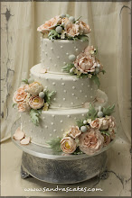 Photo: Romantic Wedding Cake by Sandra's cakes (5/18/2012) View cake details here: http://cakesdecor.com/cakes/15752
