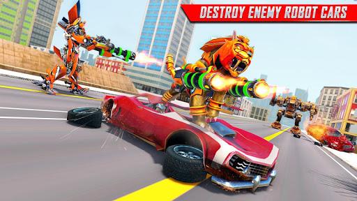 Lion Robot Car Transforming Games: Robot Shooting 1.4 screenshots 9