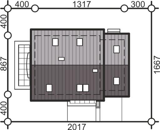 Pinczer 5 z garażem - Sytuacja