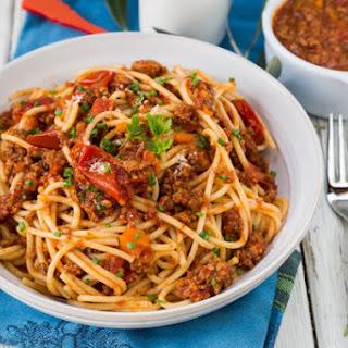 Slow Cooker Italian Spaghetti Meat Sauce.