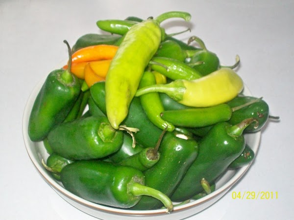 NOTE *** you can use any combination of hot peppers… if you want it...