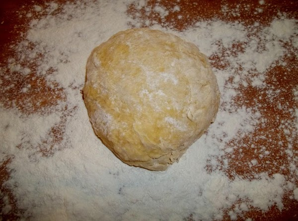 The dough should be no longer sticky and forms a nice ball.